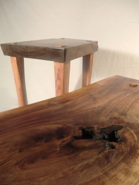slab stools and side tables